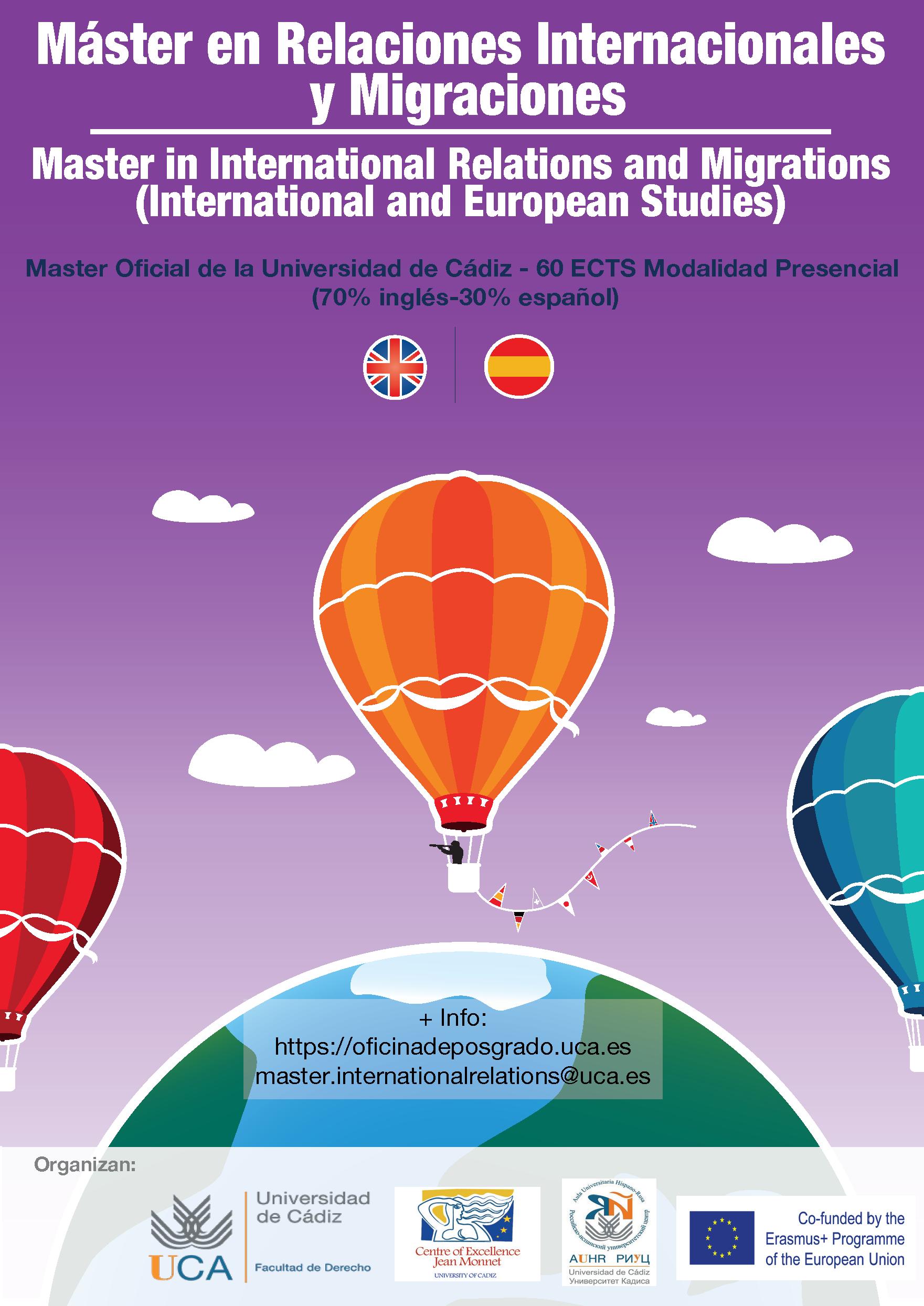 Seis alumnos de seis nacionalidades del Máster en Relaciones Internacionales y Migraciones / Mast...