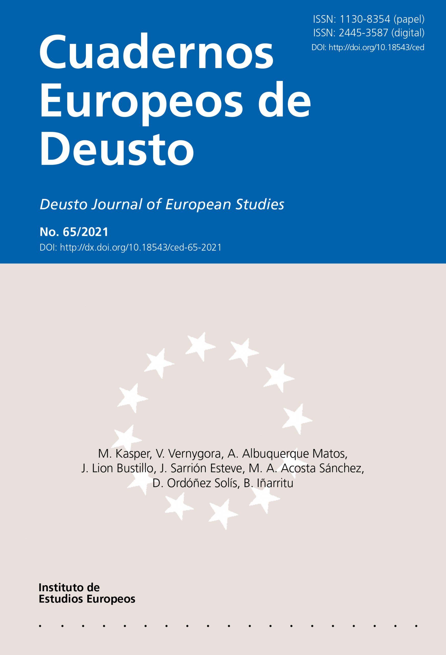 """Publicación del profesor D. Miguel Acosta en Cuadernos Europeos: """"La Asociación Internacional de ..."""